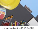 drawing equipment and design...   Shutterstock . vector #415184005