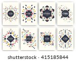 set of geometric abstract... | Shutterstock .eps vector #415185844