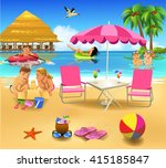 people on summer vacation | Shutterstock .eps vector #415185847