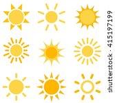 sun icons set | Shutterstock .eps vector #415197199
