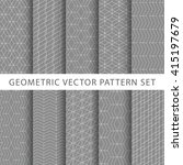 geometric vector pattern set | Shutterstock .eps vector #415197679