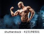 strong bodybuilder man with... | Shutterstock . vector #415198501