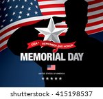 memorial day. remember and... | Shutterstock .eps vector #415198537