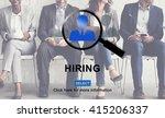 hiring human resources... | Shutterstock . vector #415206337