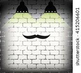 male mustache icon. flat...
