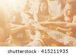 team unity friends meeting... | Shutterstock . vector #415211935