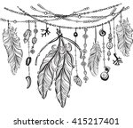 tribal theme background with... | Shutterstock .eps vector #415217401