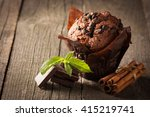 chocolate dark cooked muffin...