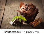 chocolate dark cooked muffin...