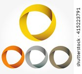 set of circular vector... | Shutterstock .eps vector #415223791