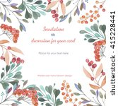 background  template postcard... | Shutterstock . vector #415228441