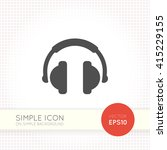 flat headphone icon isolated on ... | Shutterstock .eps vector #415229155