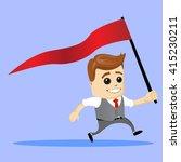 cartoon character running with... | Shutterstock .eps vector #415230211