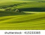 south moravian curvy fields in... | Shutterstock . vector #415233385