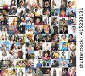 diverse ethnic diversity... | Shutterstock . vector #415238131