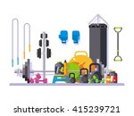 gym flat style | Shutterstock .eps vector #415239721