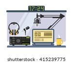 professional radio station... | Shutterstock .eps vector #415239775