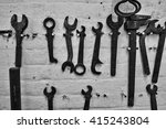 spanners on a wall | Shutterstock . vector #415243804
