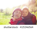to carry the child travels with ... | Shutterstock . vector #415246564