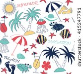 summer fun patterns. use for... | Shutterstock . vector #415247791