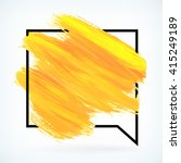 yellow paint artistic dry brush ... | Shutterstock .eps vector #415249189