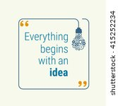idea quote with light bulb with ... | Shutterstock .eps vector #415252234