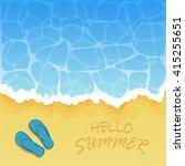 ocean wave on a sandy beach... | Shutterstock . vector #415255651