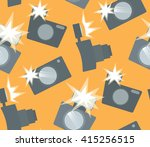 seamless pattern with flat... | Shutterstock .eps vector #415256515