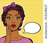 vector african american woman... | Shutterstock .eps vector #415258627