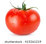 Tomato With Water Drops...