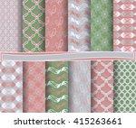 set of abstract vector paper...   Shutterstock .eps vector #415263661