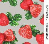 watercolor strawberries... | Shutterstock . vector #415268641