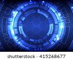 abstract blue digital... | Shutterstock .eps vector #415268677