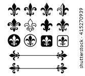 fleur de lis   french symbol... | Shutterstock .eps vector #415270939