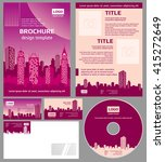 business brochure architecture... | Shutterstock .eps vector #415272649