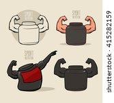 set sport nutrition icon  love... | Shutterstock .eps vector #415282159