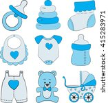 Set Of Baby Boy Accessories