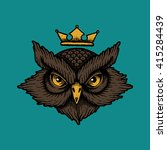 owl head. traditional tattoo... | Shutterstock .eps vector #415284439