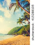 beautiful tropical beach and... | Shutterstock . vector #415288105