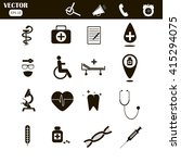 medical icons | Shutterstock .eps vector #415294075
