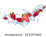 Water Splash With Fruits...