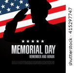 memorial day. remember and... | Shutterstock .eps vector #415297747