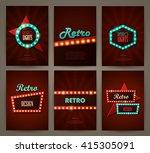 set of brochures in retro style.... | Shutterstock .eps vector #415305091
