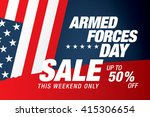 armed forces day sale banner... | Shutterstock .eps vector #415306654