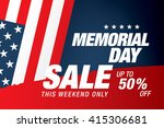 memorial day sale banner... | Shutterstock .eps vector #415306681