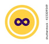 infinity sign vector icon | Shutterstock .eps vector #415309549