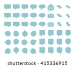 message icons.vector... | Shutterstock .eps vector #415336915