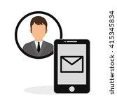 social media. multimedia icon.... | Shutterstock .eps vector #415345834
