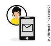 social media. multimedia icon.... | Shutterstock .eps vector #415345924