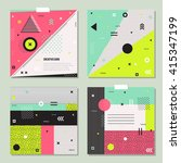 set of trendy geometric... | Shutterstock .eps vector #415347199